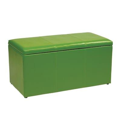 Surprising Osp Home Furnishings Metro Casual Green Vinyl Storage Short Links Chair Design For Home Short Linksinfo