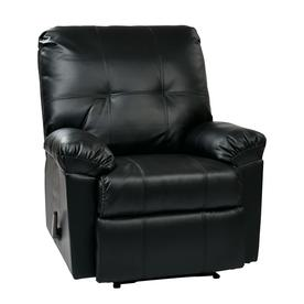 Osp Home Furnishings Kensington Black Faux Leather Recliner