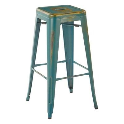 Super Osp Home Furnishings Set Of 4 Blue Bar Stool At Lowes Com Creativecarmelina Interior Chair Design Creativecarmelinacom