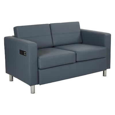 Amazing Osp Home Furnishings Atlantic Loveseat With Dual Charging Squirreltailoven Fun Painted Chair Ideas Images Squirreltailovenorg