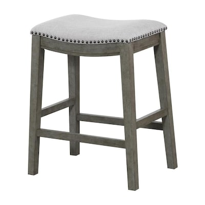 Awe Inspiring Osp Home Furnishings Set Of 2 Grey Counter Stool At Lowes Com Gmtry Best Dining Table And Chair Ideas Images Gmtryco