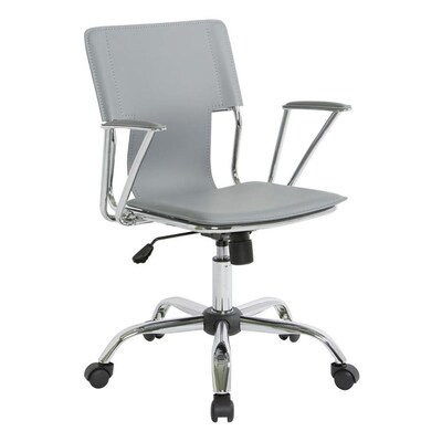 Strange Osp Home Furnishings Grey Contemporary Desk Chair At Lowes Com Creativecarmelina Interior Chair Design Creativecarmelinacom