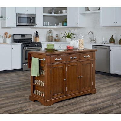 OSP Home Furnishings Brown Rustic Kitchen Island at Lowes.com