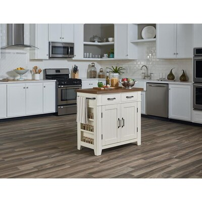 OSP Home Furnishings White Rustic Kitchen Island at Lowes.com