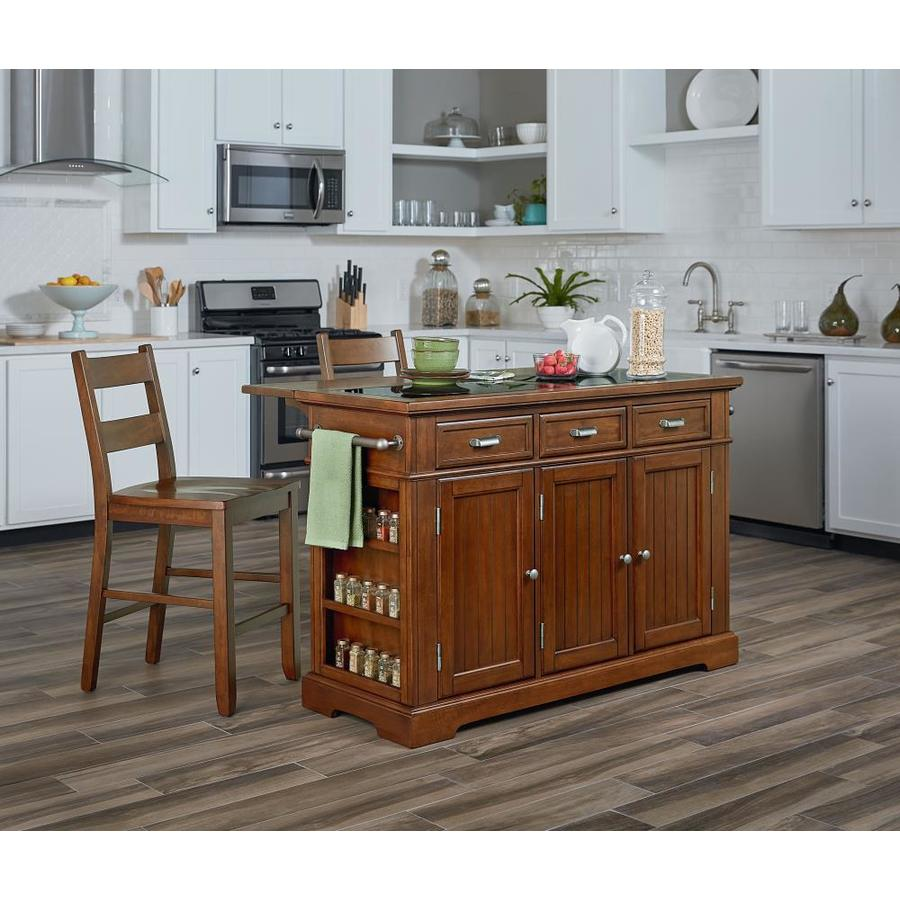 Osp Home Furnishings Brown Wood Base With Granite Top Kitchen