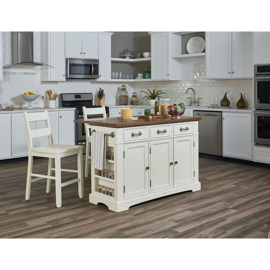 Osp Home Furnishings White Wood Base With Mdf Wood Top Kitchen Island 57 In X 23 In X 36 25 In In The Kitchen Islands Carts Department At Lowes Com
