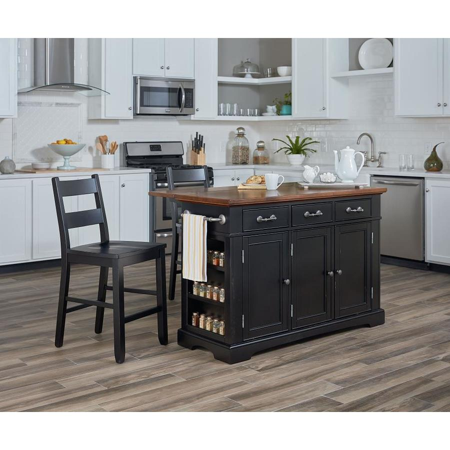 OSP Home Furnishings Black Country/Cottage Kitchen Island
