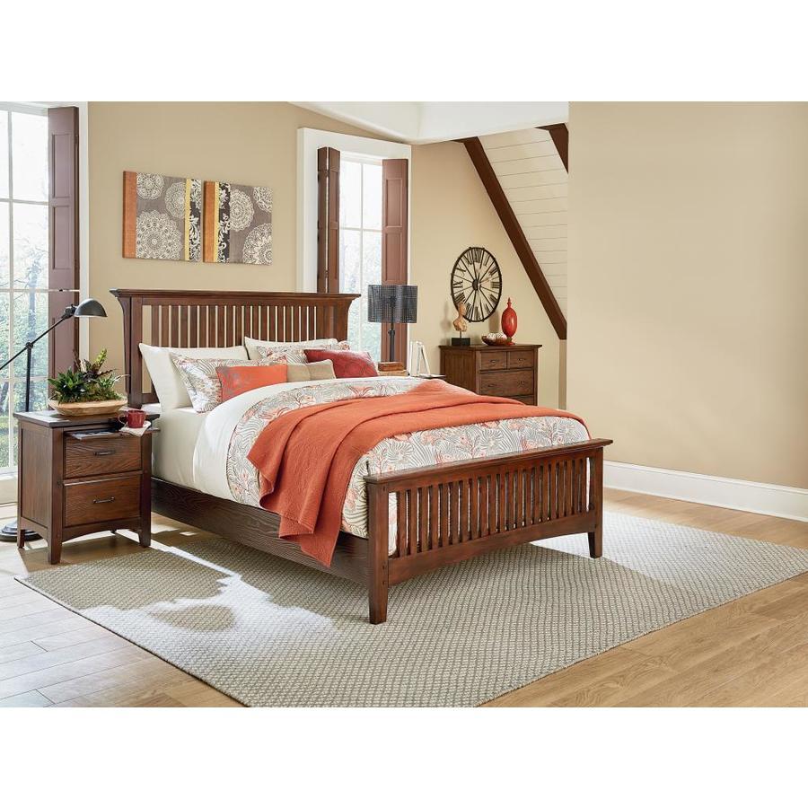 OSP Home Furnishings Modern Mission Vintage Oak King Bedroom Set at ...