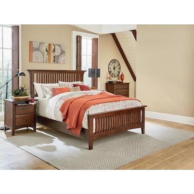 OSP Home Furnishings Modern Mission Vintage Oak King Bedroom ...