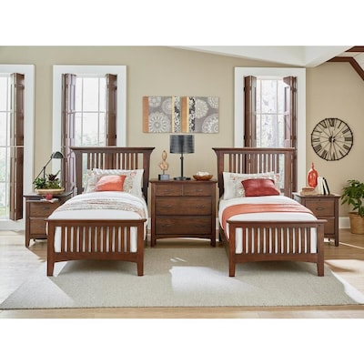 OSP Home Furnishings Modern Mission Double Twin Bedroom Set ...