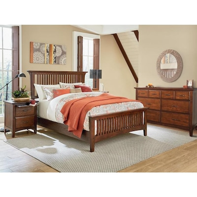 OSP Home Furnishings Modern Mission Vintage Oak King Bedroom ...