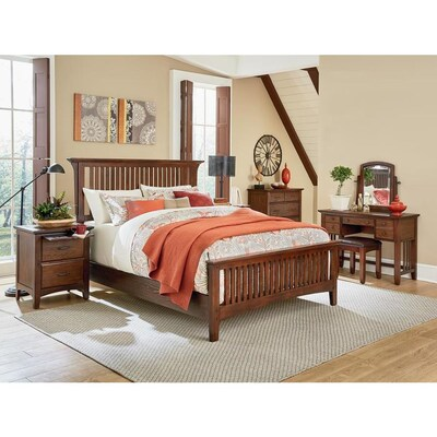OSP Home Furnishings Modern Mission King Bedroom Set with 2 ...