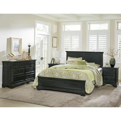 OSP Home Furnishings Farmhouse Basics Queen Bedroom Set with ...