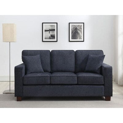 Groovy Russell 3 Seater Sofa In Navy Fabric 3 Ctn Cjindustries Chair Design For Home Cjindustriesco