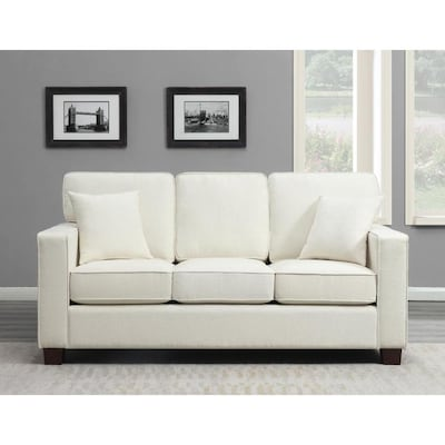 Russell 3 Seater Sofa in Ivory Fabric 3/CTN