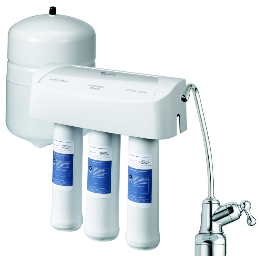 Under Sink Filter Systems Shop Whirlpool Under Sink Complete Filtration System With Reverse