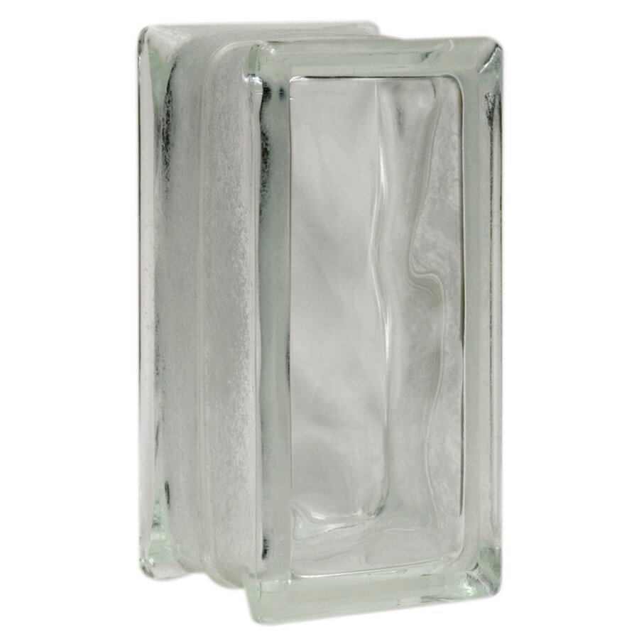 Pittsburgh Corning Decora Premiere Glass Block (Common: 8-in H x 4-in W x 4-in D; Actual: 7.75-in H x 3.75-in W x 3.87-in D)