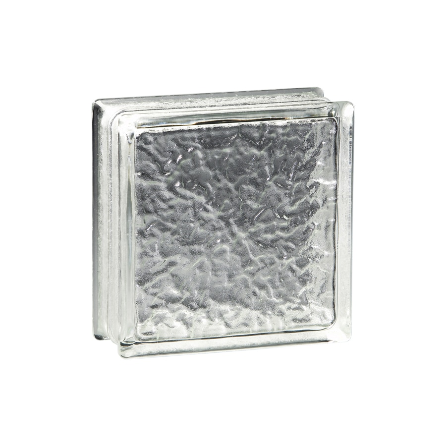 pittsburgh corning icescapes premiere glass block common 8in h x 8