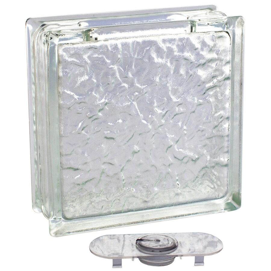 pittsburgh corning decobloc ice thinline 4pack glass blocks common 8in