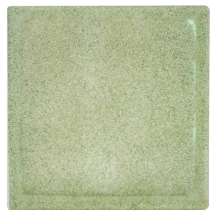 Pittsburgh Corning Expressions Olive Green Glass Block (Common: 8-in H x 8-in W x 4-in D; Actual: 7.75-in H x 7.75-in W x 3.87-in D)