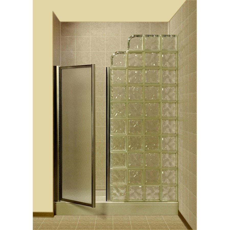 Shop pittsburgh corning premiere series decora white glass block pittsburgh corning premiere series decora white glass block wall with acrylic floor 4 piece alcove eventelaan Image collections