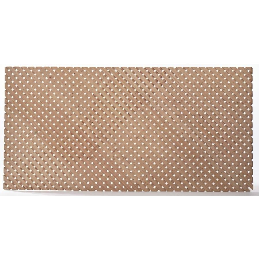 Severe Weather (Common: 1-in x 4-1/4-in x 8-ft; Actual: 0.38-in x 4-in x 8-ft) Pressure Treated Spruce Privacy Lattice