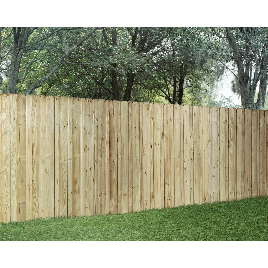 Wood Fencing Pressure Treated Board on Board 6' x 8' Panel ACQ - Shop Wood Fencing Pressure Treated Board On Board 6' X 8' Panel