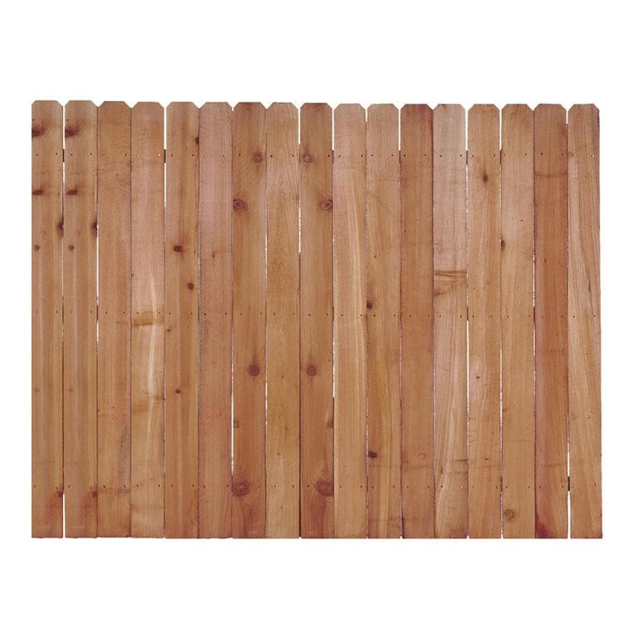 Severe Weather (Actual: 6-ft x 8-ft) Natural Western Red Cedar Privacy Fence Panel