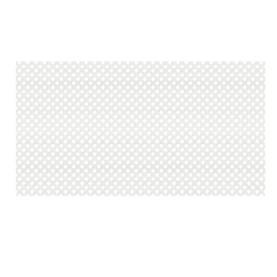 (Common: x 48-in x 8-Ft; Actual: 0.125-in x 47.5-in x 7.87-ft) White Plastic (Not Wood) Privacy