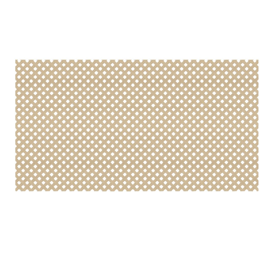 Brownstone Vinyl Privacy Lattice (Common: 48-in x 8-ft; Actual: 0.125-in x 47.5-in x 7.87-ft)