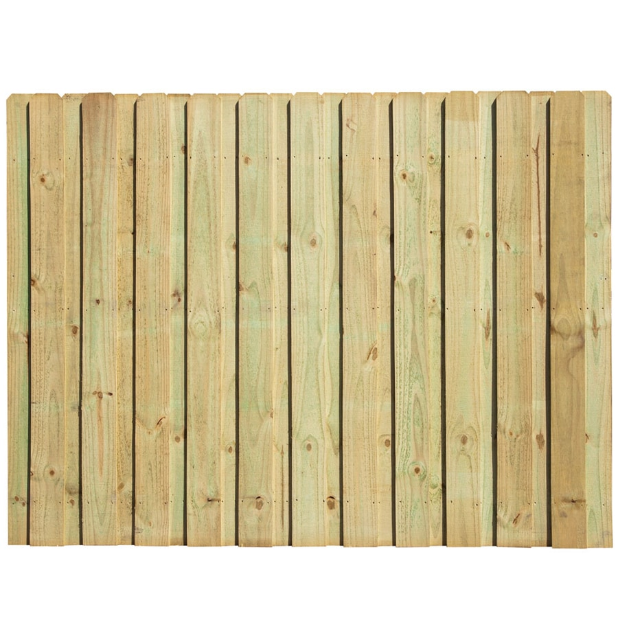Severe Weather Natural Pressure Treated Pine Privacy Fence Panel (Common: 6-ft x 8-ft; Actual: 6-ft x 8-ft)