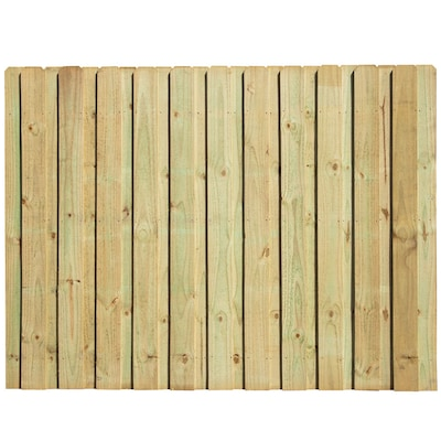 Actual 6 Ft X 8 Pressure Treated Pine Board On Dog Ear Wood Privacy Fence Panel