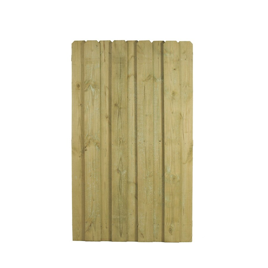 (Common: 6-ft x 3-ft; Actual: 6-ft x 3.66-ft) Natural Pressure Treated Pine Privacy Gate