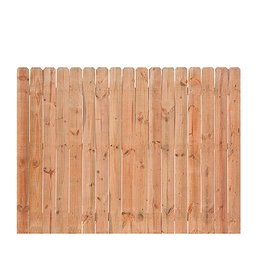 Severe Weather (Actual: 6-ft x 8-ft) Natural Pressure Treated Pine Privacy Fence Panel