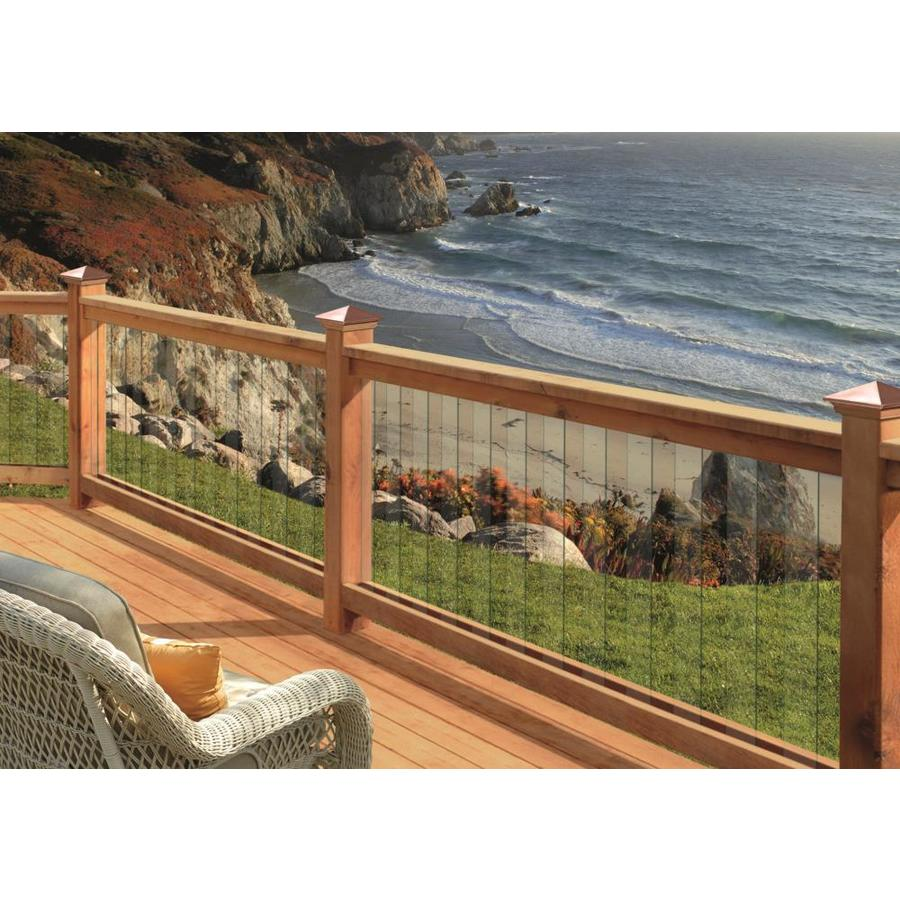 Deckorators (Actual: 0.313-in x 3.95-in x 32-in) Clear Glass Deck Baluster