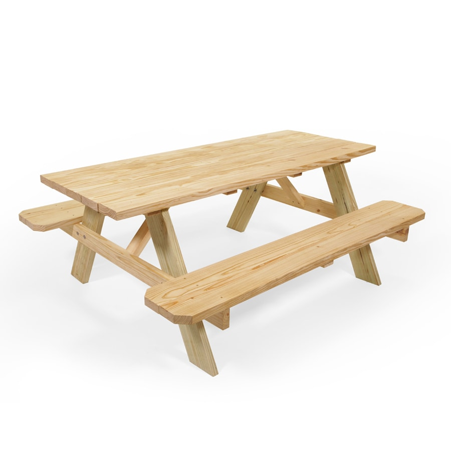 Shop Picnic Tables At Lowescom - Treated lumber picnic table
