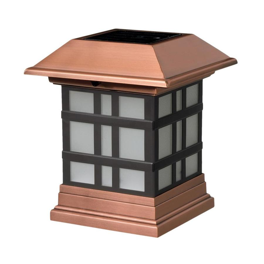 Maine Ornamental 4-in x 4-in Copper Plastic and Stainless Steel Solar Post Cap