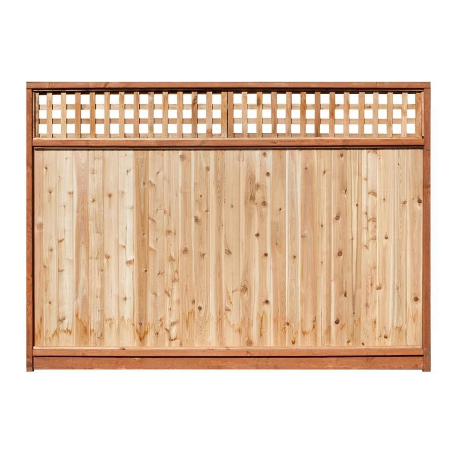 Severe Weather (Common: 6-ft x 8-ft; Actual: 5.7-ft x 8-ft) Natural Western Red Cedar Privacy Fence Panel