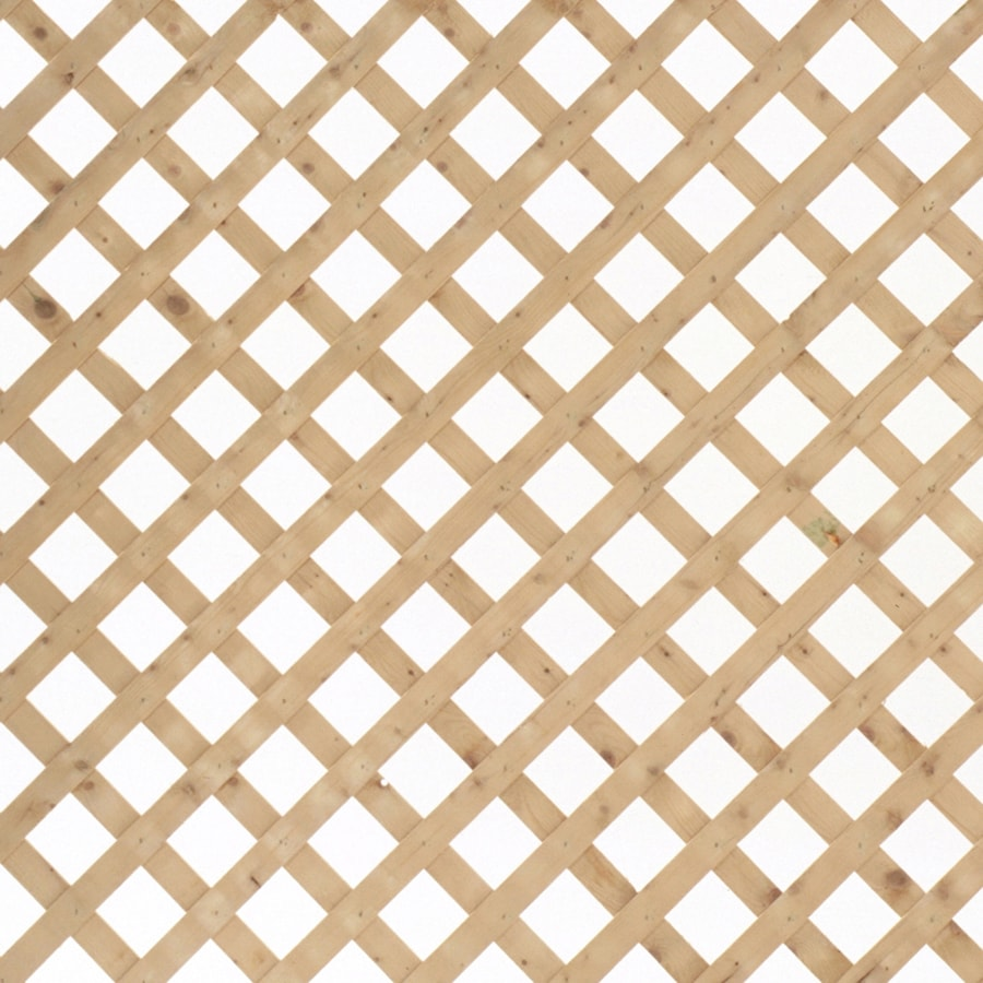 Severe Weather (Common: 1/2-in x 48-in x 8-ft; Actual: 0.5-in x 48-in x 8-ft) Natural Pressure Treated Spruce Traditional Lattice