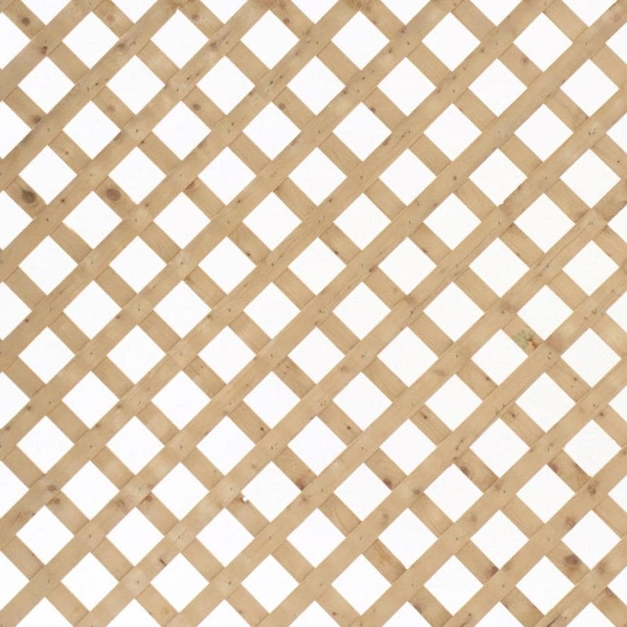 Severe Weather (Common: 1/2-in x 24-in x 8-ft; Actual: 0.5-in x 24-in x 8-ft) Natural Pressure Treated Spruce Traditional Lattice