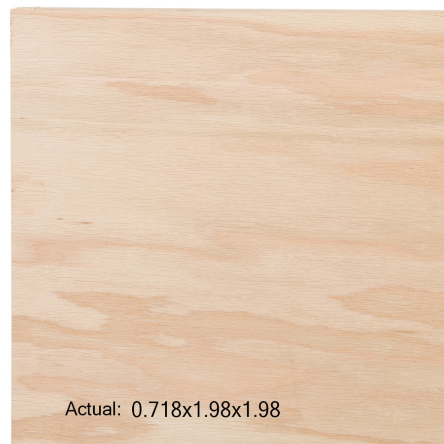 3/4-in Common Oak Plywood, Application as  2 x 2