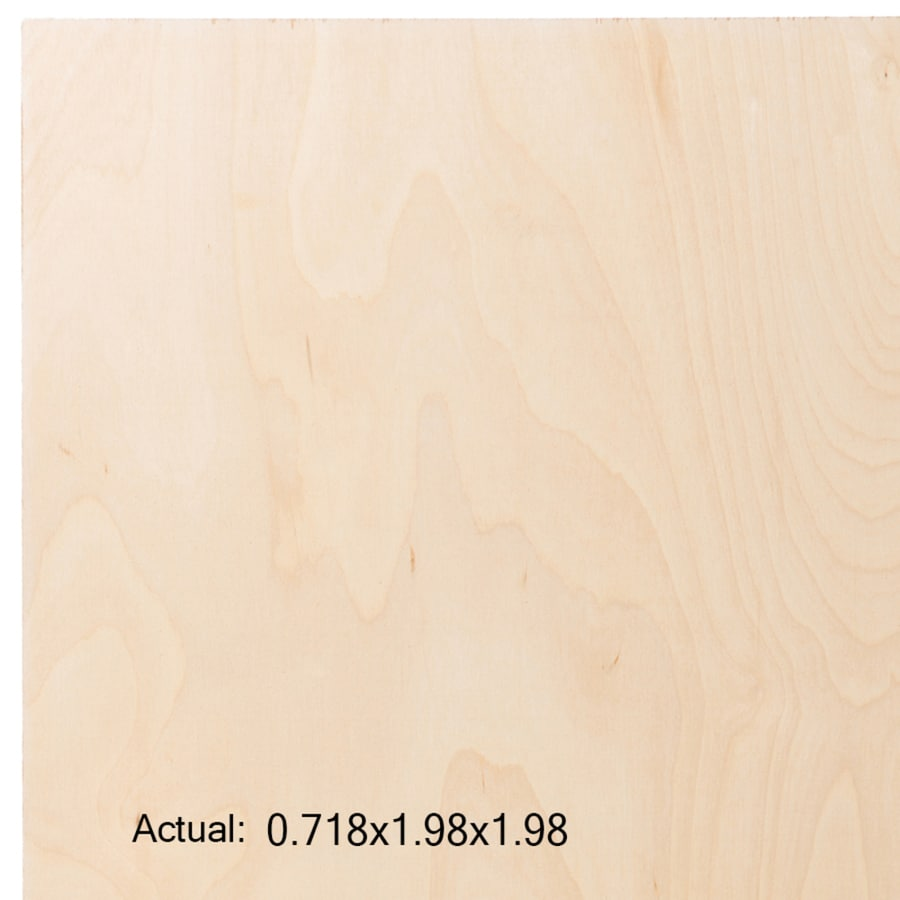 3/4-in Birch Plywood, Application as 2 x 2