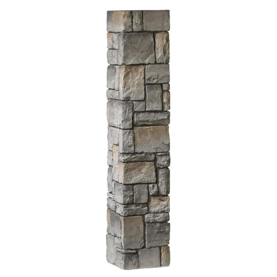 Deckorators (Fits Common Post Measurement:; Actual: 8-in x 8-in x 53-in) Gray Fiberglass (Not Wood) Deck Post Sleeve