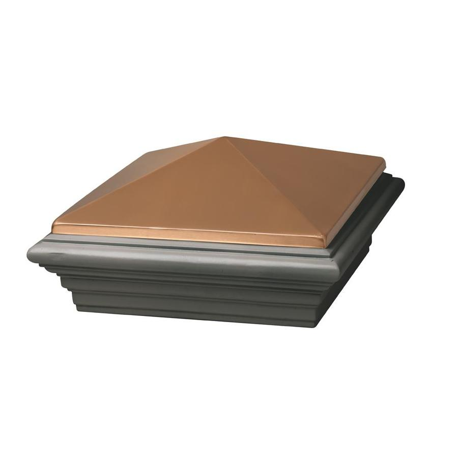 Deckorators (Actual: 10.5-in x 10.5-in x 5.5-in) Copper Cast Stone Deck Post Cap
