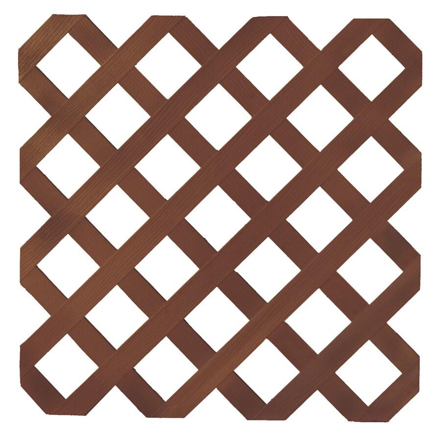 Redwood Tone Traditional Vinyl Lattice (Actual: 0 25-in x 8