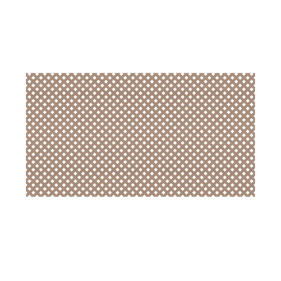 Saddle Vinyl Privacy Lattice (Common: 48-in x 8-ft; Actual: 0.125-in x 47.5-in x 7.87-ft)