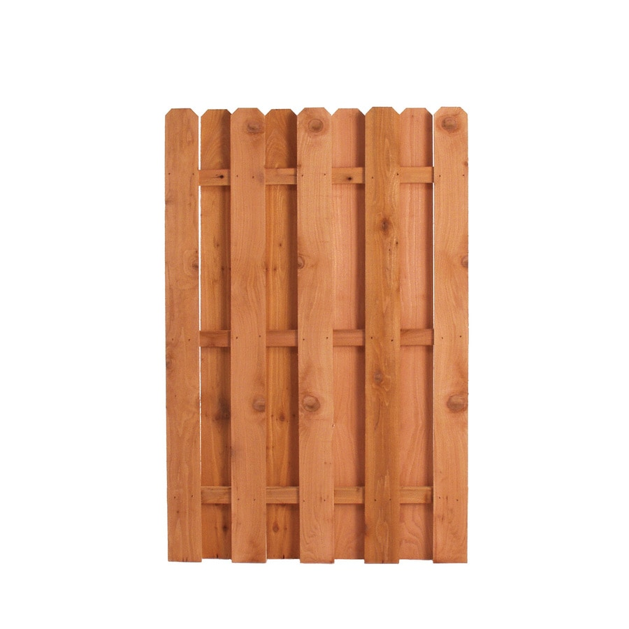 Color Treated Stain Pressure Treated Southern Yellow Pine Privacy Fence Gate (Common: 6-ft x 3.75-ft; Actual: 6-ft x 3.75-ft)