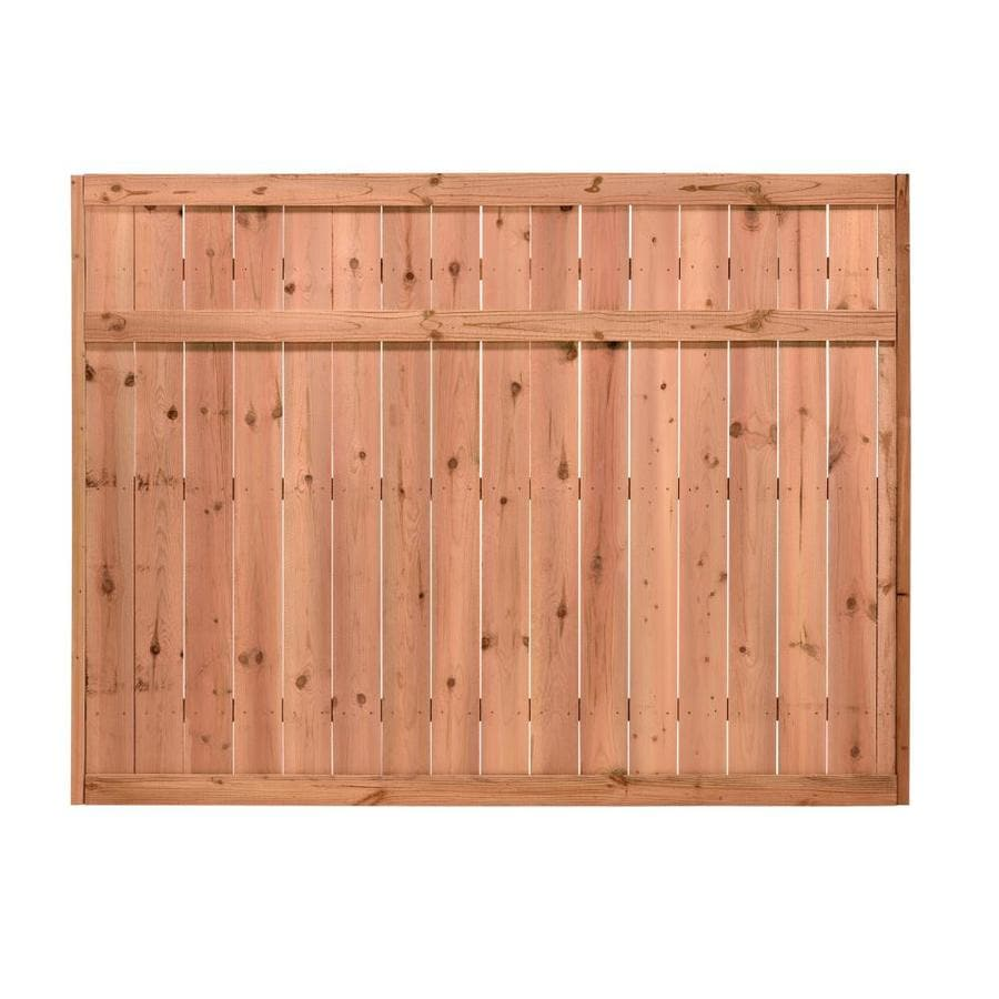 (Common: 6-ft x 8-ft; Actual: 6-ft x 8-ft) Pressure Treated Pine Privacy Fence Panel