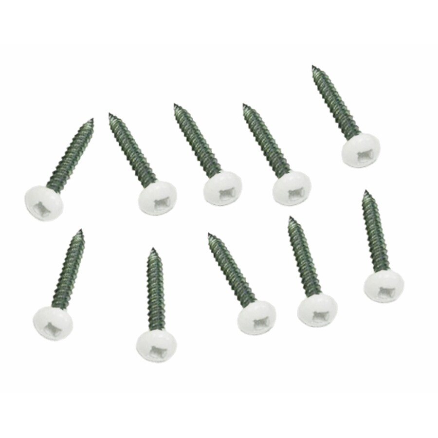 10-Pack 1.5-in White Lattice Screw