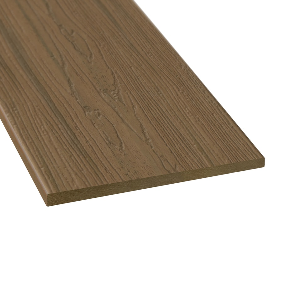Style Selections Autumn Brown Radius Edge Composite Deck Board (Actual: 0.5-in x 11.25-in x 12-ft)